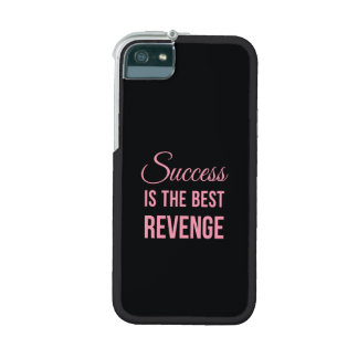 Success Revenge Motivational Quote Black Pink Cover For iPhone 5