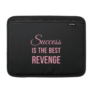 Success Revenge Motivational Quote Black Pink Sleeve For MacBook Air