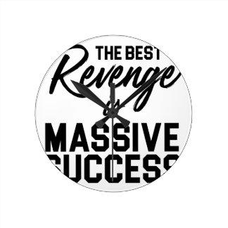 Success Revenge Round Clock