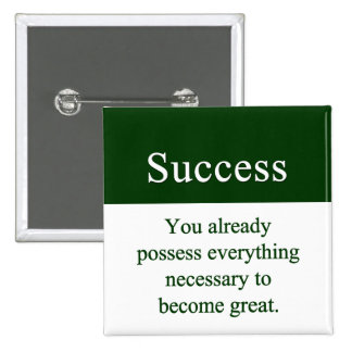 Success starts from within 2 inch square button