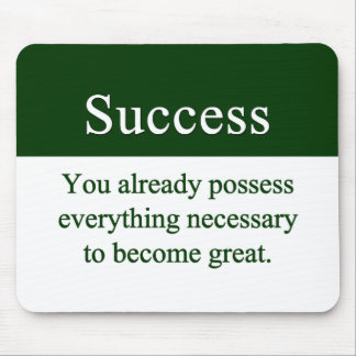 Success starts from within mouse pad