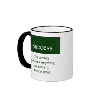 Success starts from within ringer coffee mug