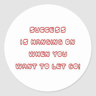 Success Classic Round Sticker