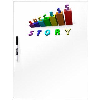Success Story Inspirational Motivational Writing Dry-Erase Board