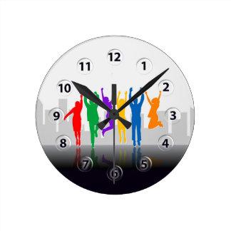 Success Team Round Clock