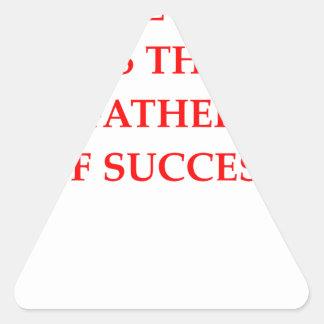 success triangle sticker
