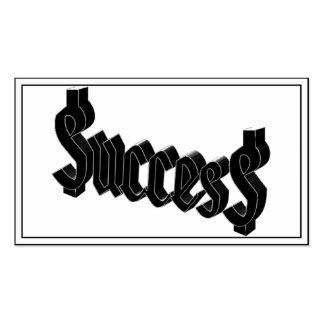 Success ucces business card template