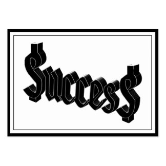Success ucces business card