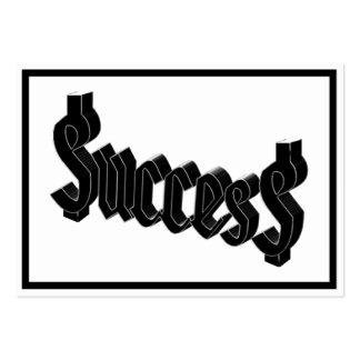 Success ucces business cards