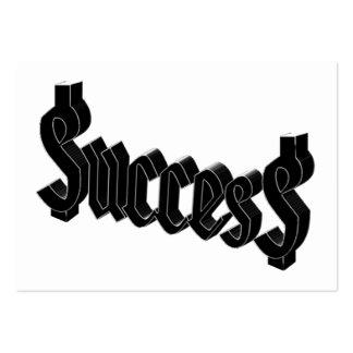 Success ucces business card templates