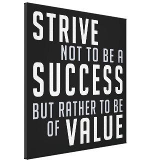 Success & Value Motivational canvas print