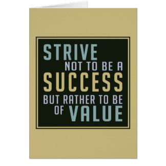Success & Value Motivational greeting card