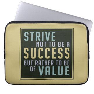 Success & Value Motivational laptop sleeves