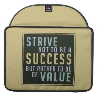 Success & Value Motivational MacBook sleeves