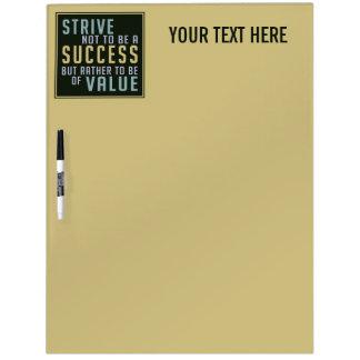Success & Value Motivational message board