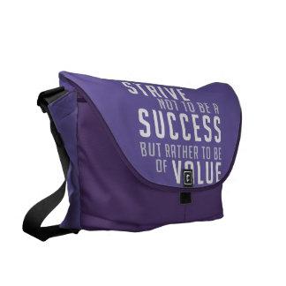 Success & Value Motivational messenger bag