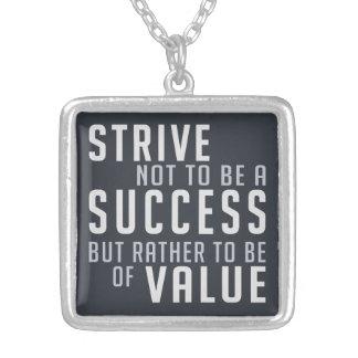 Success & Value Motivational necklace