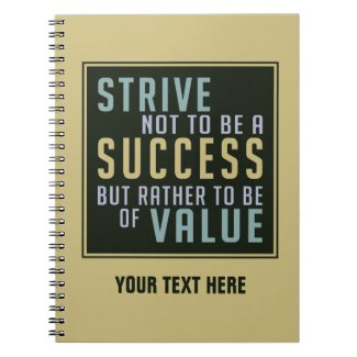Success & Value Motivational notebook