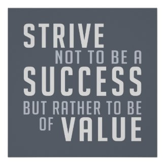 Success & Value Motivational poster