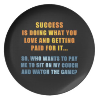 Success - Watch the Game Dinner Plate