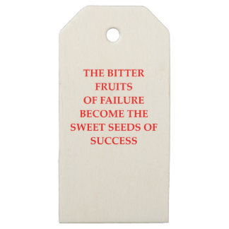 SUCCESS WOODEN GIFT TAGS