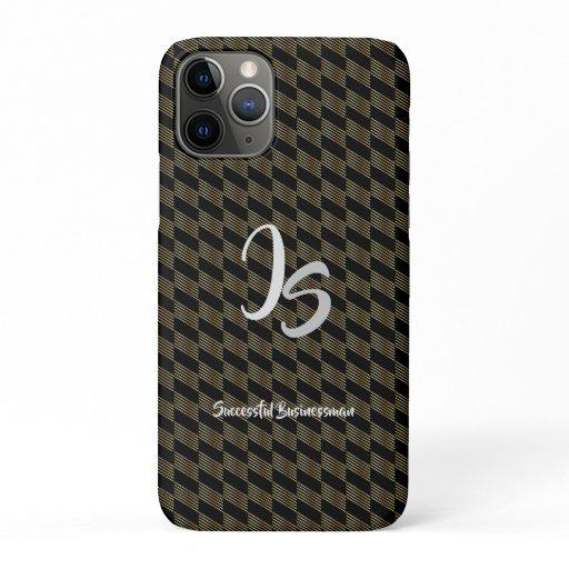 """Successful Businessman"" Personal Gold Monogram iPhone 11 Pro Case"