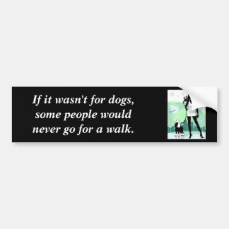 Successful Female in City Walking Poodle Bumper Sticker