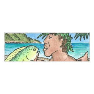 Successful Hawaiian Fisherman Photo Print