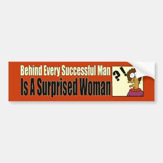 Successful Man Bumper Sticker Car Bumper Sticker