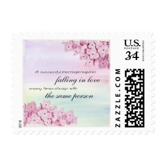 Successful Marriage Pink Anniversary Stamp