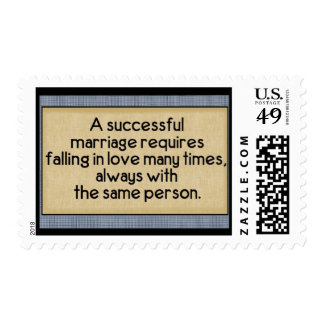 Successful Marriage: US Postage Stamps