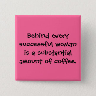 Successful Women Drink Lots of Coffee Button