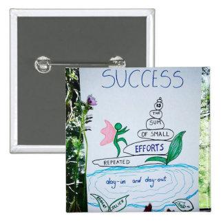 Successful Zen Stone Butterfly Pinback Button