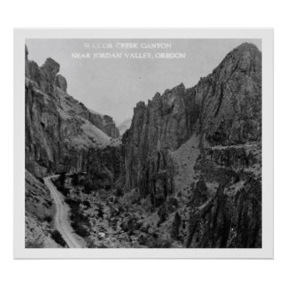 Succor Creek Canyon, Jordan Valley Oregon Vintage Poster