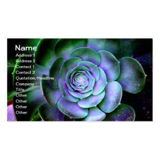Succulent Abstract Fine Artsy Business Card