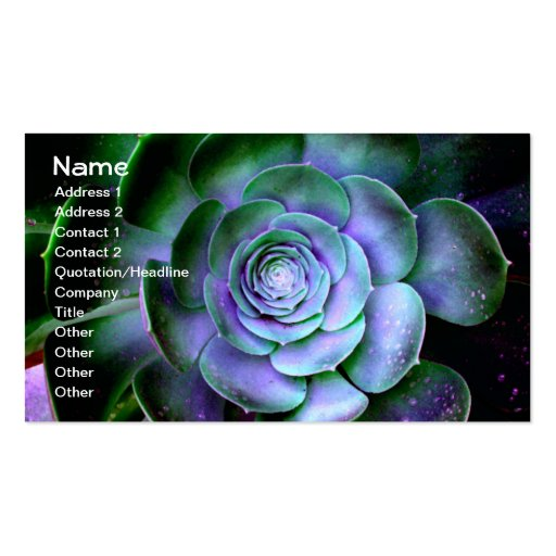 Succulent abstract fine artsy business card zazzle for Artsy business cards