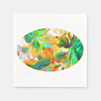 succulent amarillo y verde colorized servilletas desechables