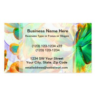 succulent amarillo y verde colorized plantilla de tarjeta personal