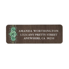 Succulent Baby's Breath Wedding Address Labels