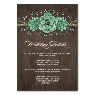 Succulent Baby's Breath Wedding Enclosure Cards