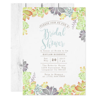 Succulent Bliss Watercolor | Bridal Shower Invite