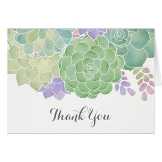 Succulent Bouquet Elegant Thank You Card