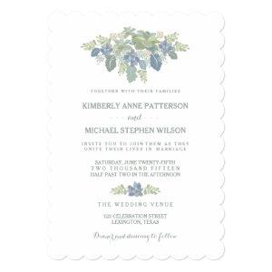 Succulent Bouquet Floral Wedding Invitation 5