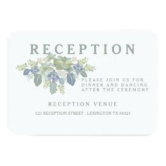 Succulent Bouquet Floral Wedding Reception Card Personalized Announcements