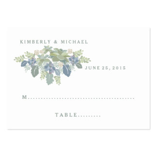 Succulent Bouquet Floral Wedding Seating Card