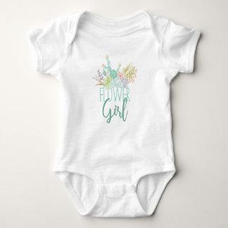 Succulent Bouquet Watercolor   Flower Girl Baby Bodysuit