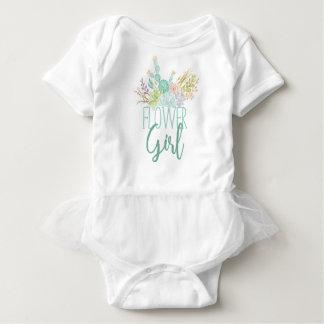 Succulent Bouquet Watercolor | Flower Girl Baby Bodysuit