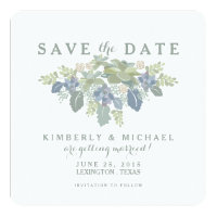 Succulent Bouquet Wedding Photo Save the Date Card
