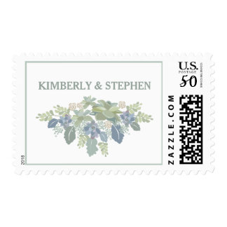 Succulent Bouquet Wedding Response Postage