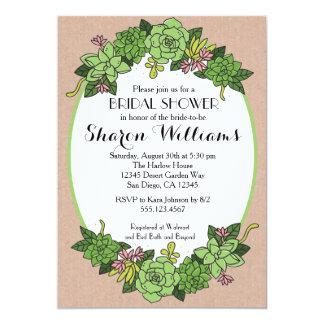 Succulent Bridal Wedding Shower Invitation